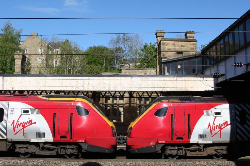 Jungfruliga resandedieseldrev, Lancaster station royaltyfria bilder