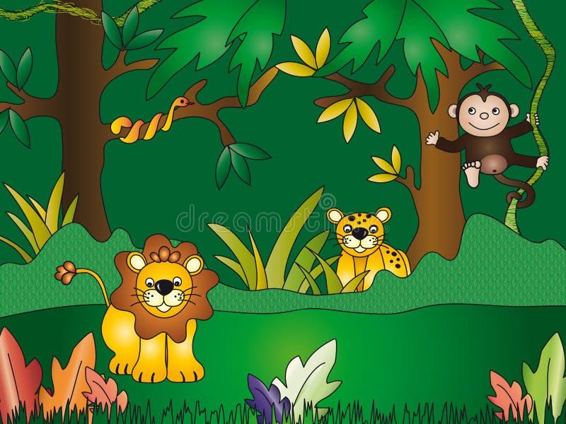 Download Jungle stock illustration. Illustration of moisture, ringhio - 10580552