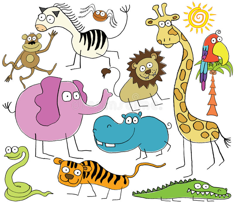 Download Jungle Animals Royalty Free Stock Image - Image: 12426726