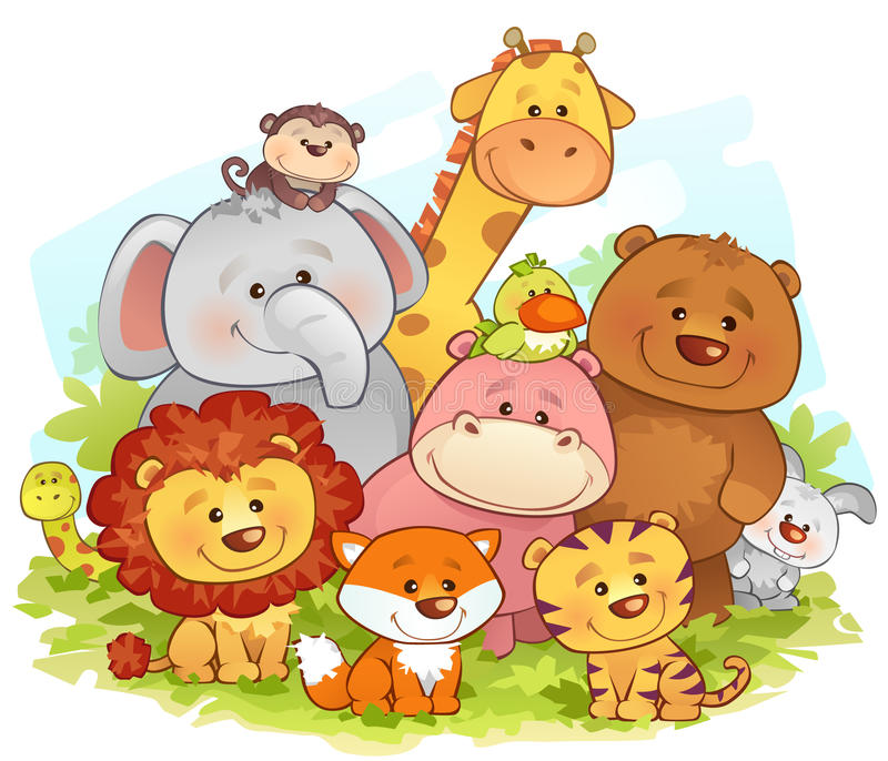 Jungle Animals. Vector illustration of jungle animals royalty free illustration