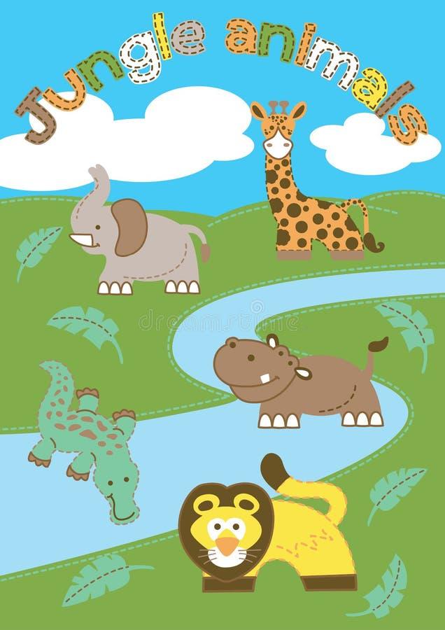 Jungle animals. royalty free illustration