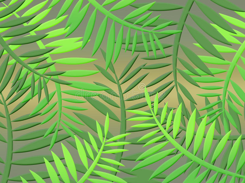 Jungle background (01) royalty free illustration