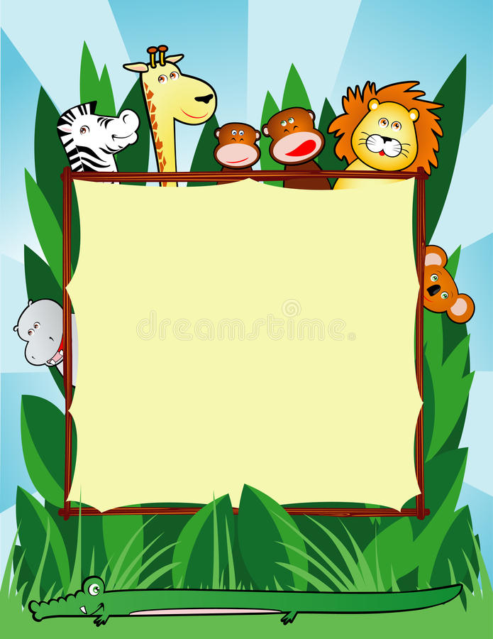 jungle background stock illustration illustration of monkey 16045790 rh dreamstime com tropical rainforest animals clipart