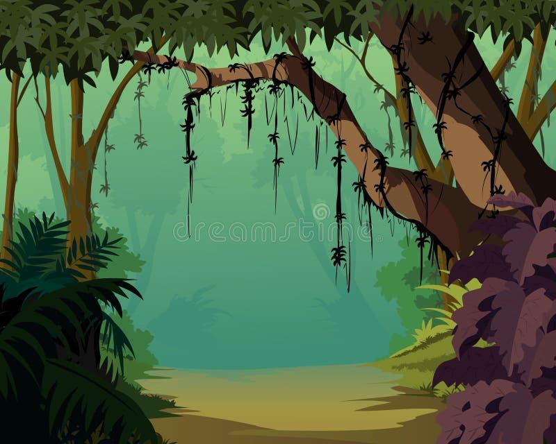 Jungle background - Pleasant Scenery royalty free illustration