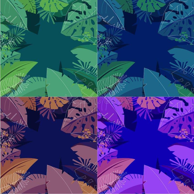 Jungle background - vector vector illustration