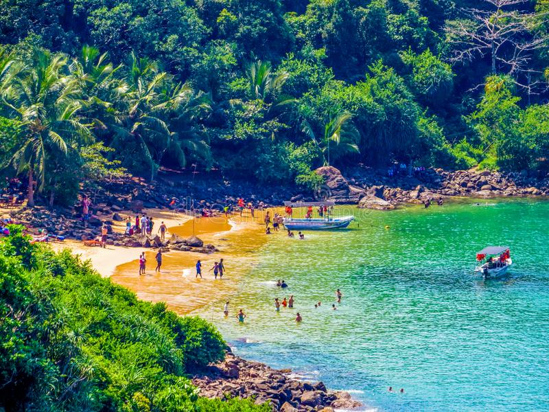 Jungle Beach, Unawatuna, Sri Lanka fotografering för bildbyråer