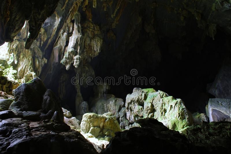 Jungle cave stock image