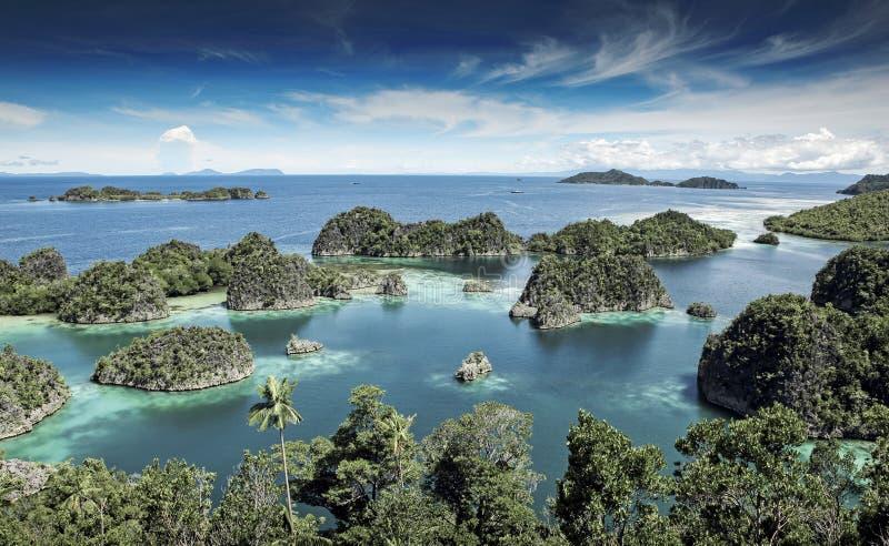 Tropical islands landscape, Raja Ampat, West Papua stock images