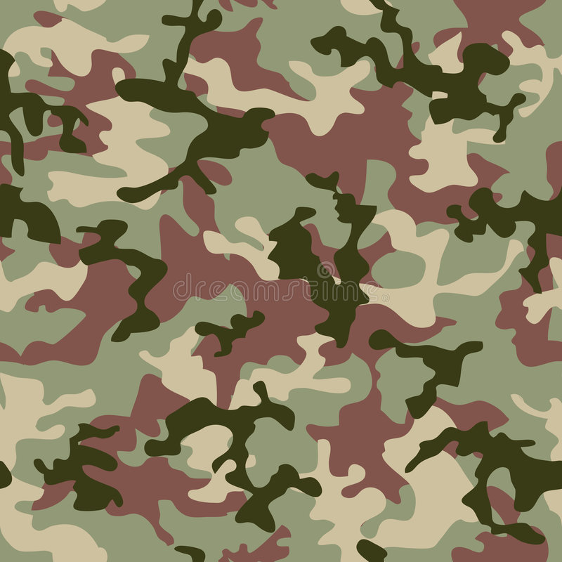 Jungle de camouflage illustration stock
