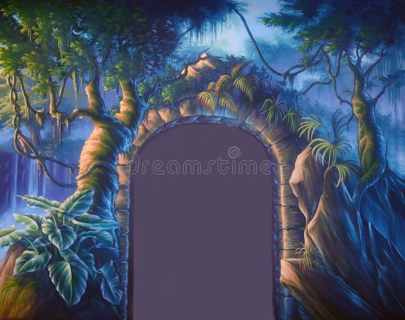 Jungle doorway vector illustration