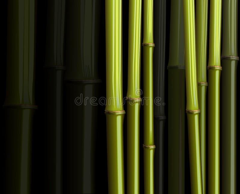 jungle en bambou abstraite d'illustration de forêt de feuillage
