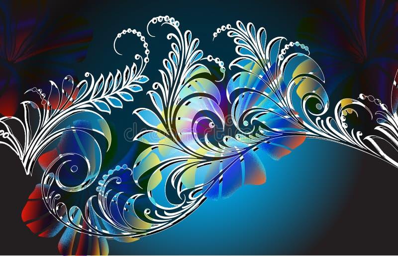 Download Jungle fern_night stock illustration. Illustration of airbrushed - 4868140