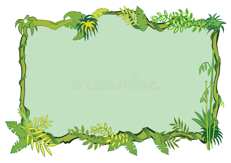 Jungle frame concept in royalty free stock photos