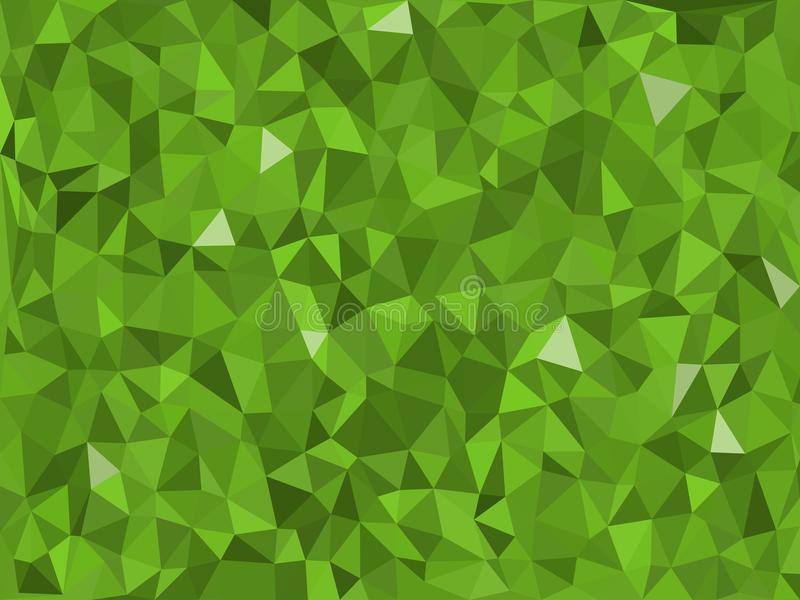 Jungle -green triangular pattern - triangles mosaic. Various green triangular pattern - triangles mosaic - vector illustration stock illustration
