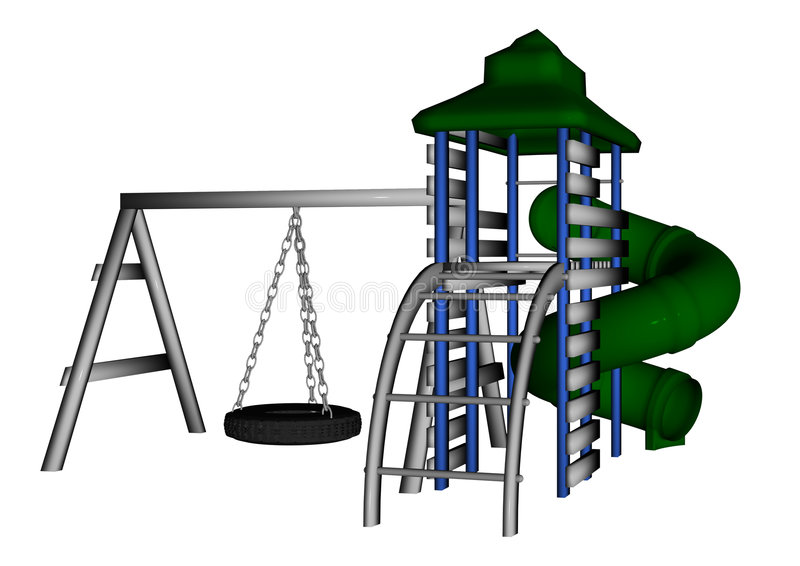 Download Jungle Gym stock illustration. Illustration of child, recreation - 5125558