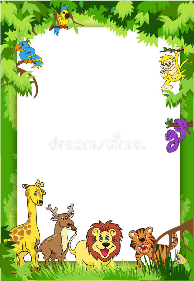 Jungle Invitation royalty free stock images