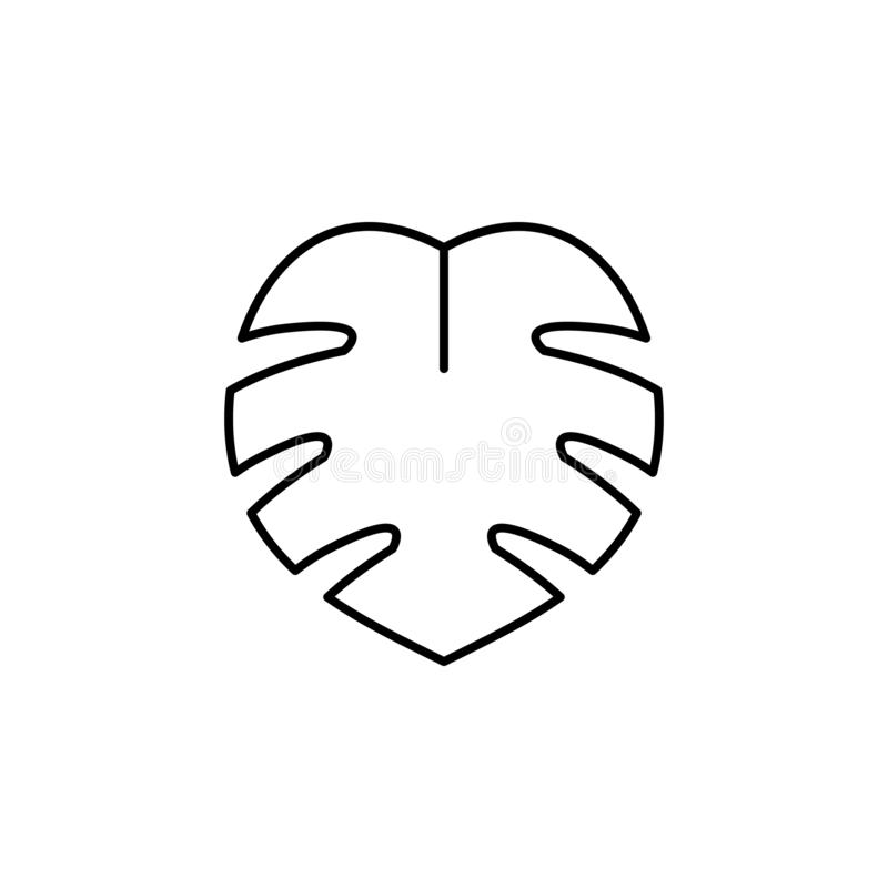 Jungle, leaves line icon. Element of jungle for mobile concept and web apps illu. Stration. Thin line icon on white background stock illustration