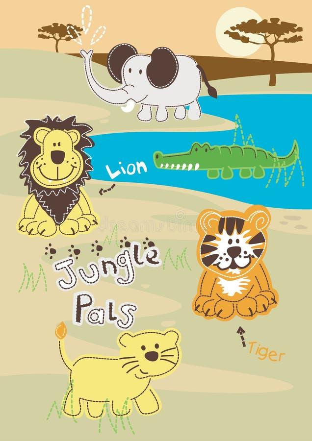Jungle Pals vector illustration