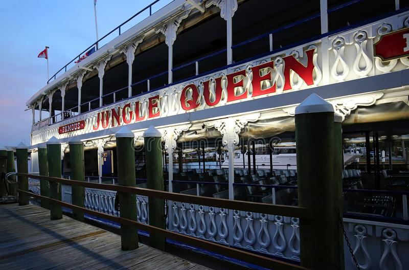 Jungle Queen, a popular sightseeing tour boat royalty free stock photos