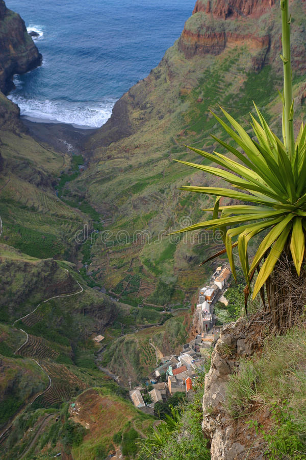 Jungle valley in Cape Verde royalty free stock image
