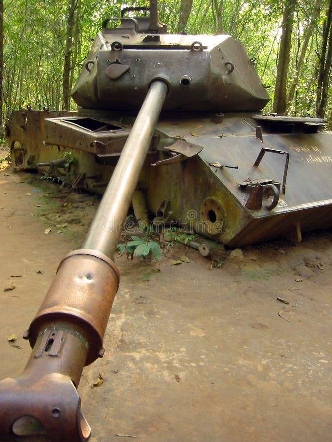 Jungle war destroyed american tank vietnam royalty free stock photos