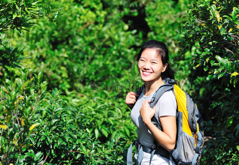 Download Jungle woman hiker stock image. Image of adventure, front - 27469695