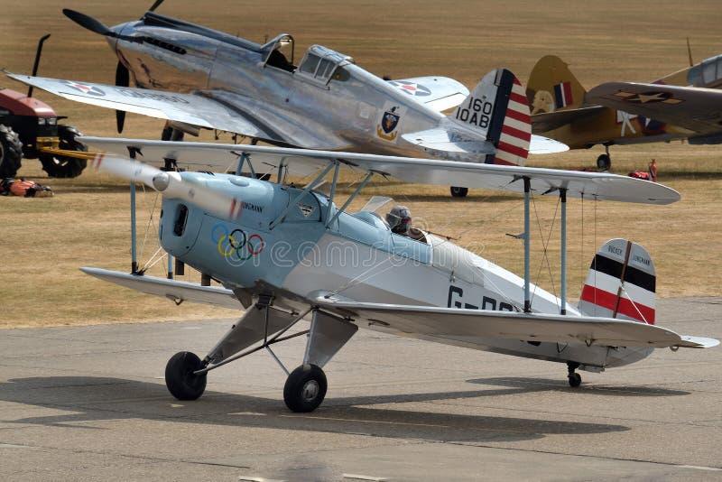 ` Jungmann ` ¼ 131 cker BÃ ¼ BÃ было немецким воздушным судном основ профессии 1930s стоковые изображения