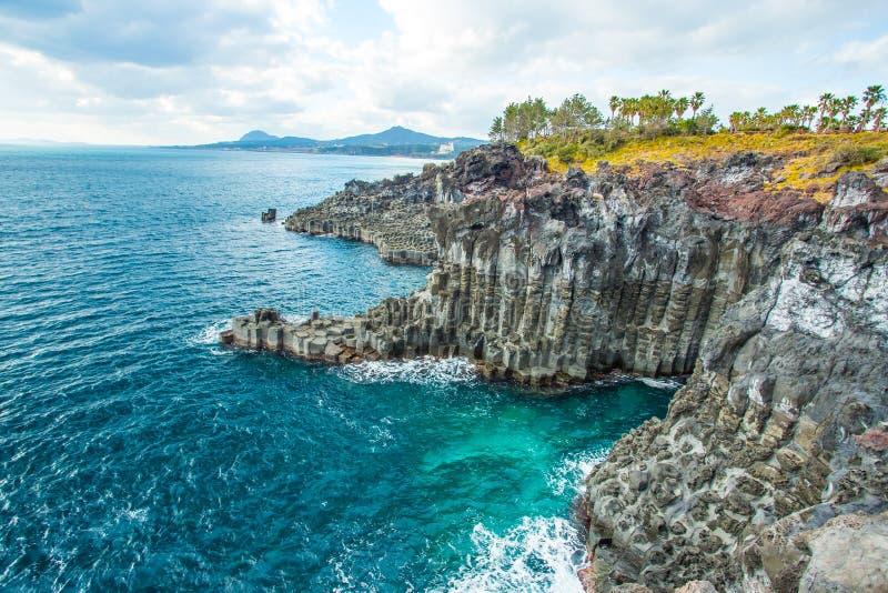 Jungmun Daepo in Jeju Island, South Korea royalty free stock photo