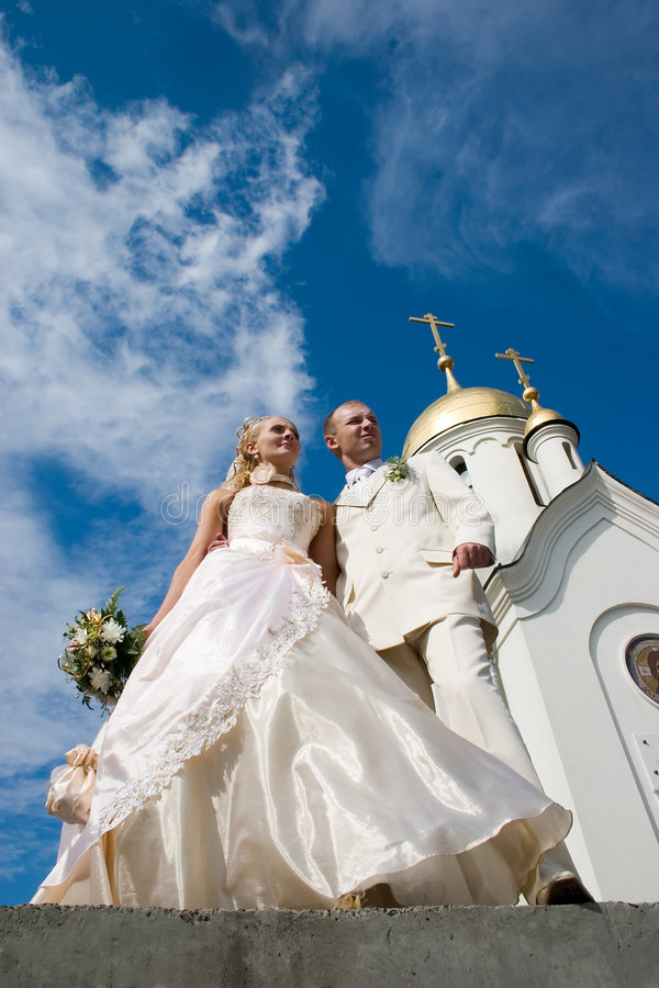 Jungvermählten. lizenzfreie stockfotografie