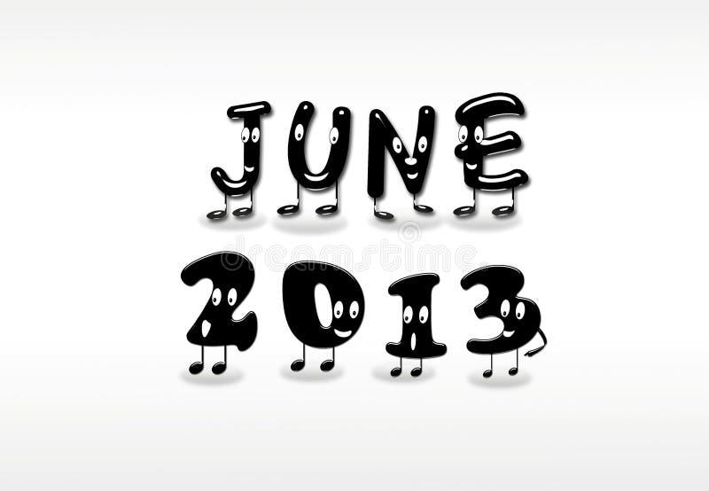 Juni 2013. stock illustrationer