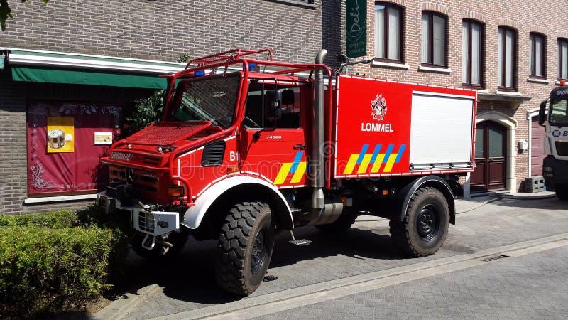 Juni del lommel de Brandweer fotografía de archivo