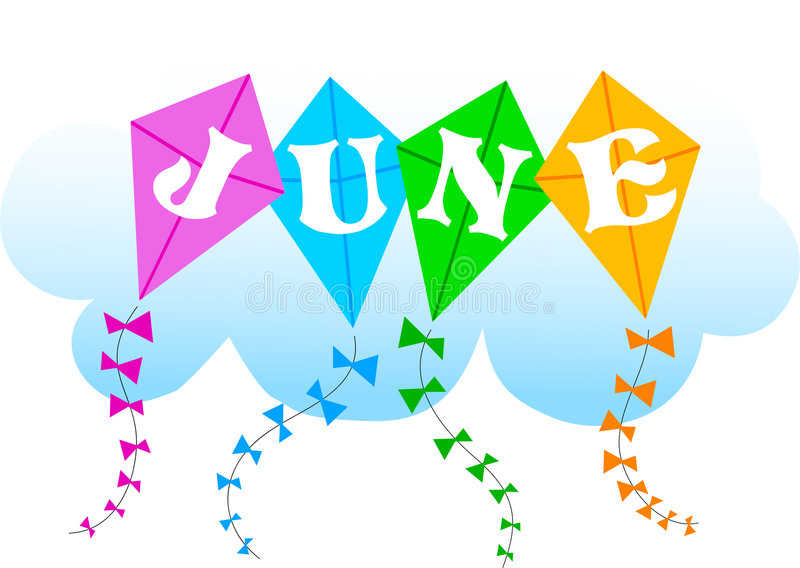 Juni-Drachen/ENV stock abbildung