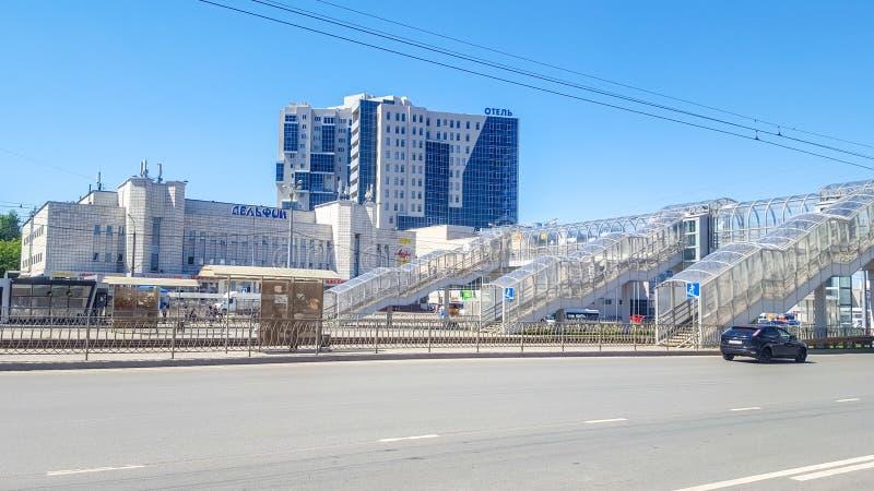 Juni 2018, Kazan, Tatarstan Tatar de marionettentheater ?Ekiyat ?van de staat is grootst van marionettentheaters in Rusland royalty-vrije stock foto's