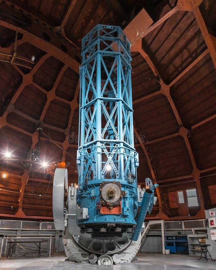 9. Juni 2018 Mt Wilson/CA/USA - das historische 60 Zoll Teleskop (im Jahre 1908 abgeschlossen) errichtet hauptsächlich für photog stockfotografie
