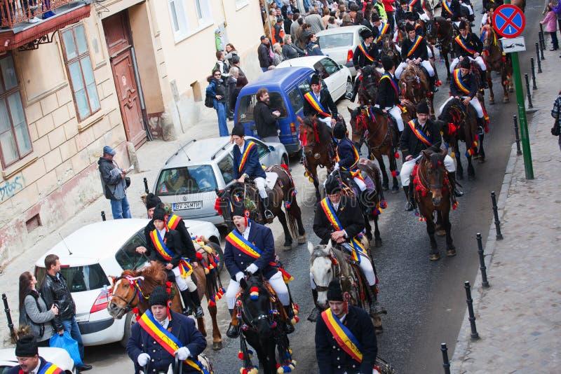 Juni parada na Brasov miasta dniach zdjęcie stock