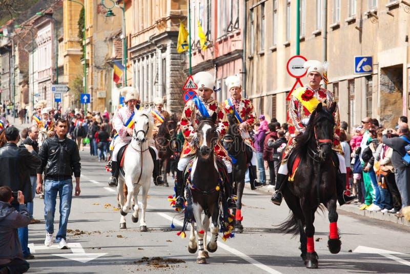 Juni parada na Brasov miasta dniach obrazy stock