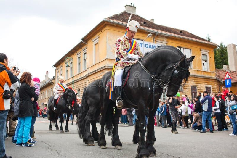 Juni parada w Brasov zdjęcia royalty free
