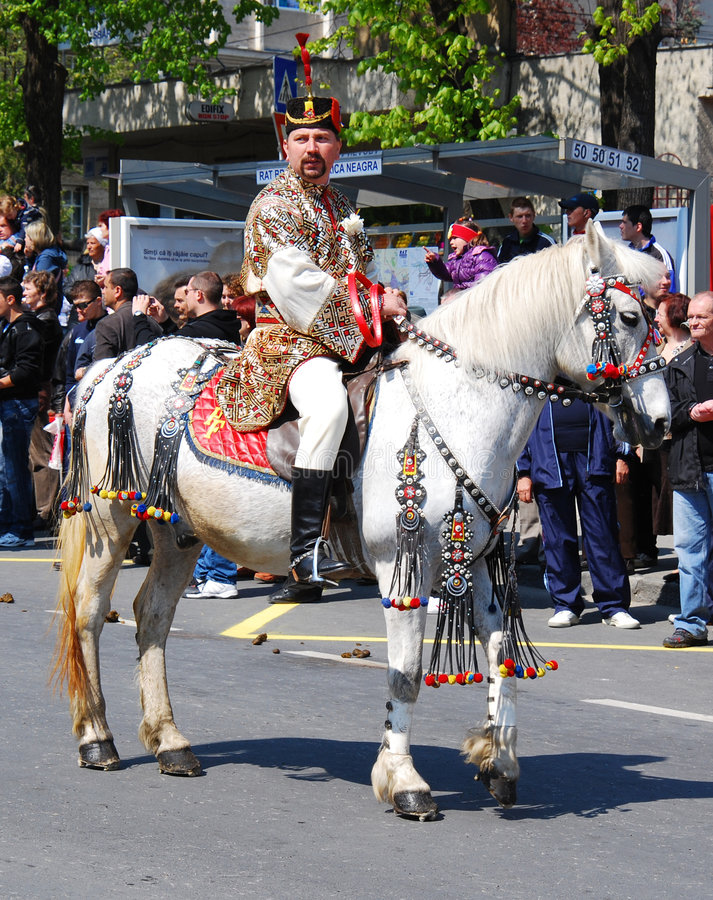 Juni Parade (Brasov/Romania). The 8th edition of the celebration of city city days (Brasov is one of the most important cities of Romania), was developed between stock image