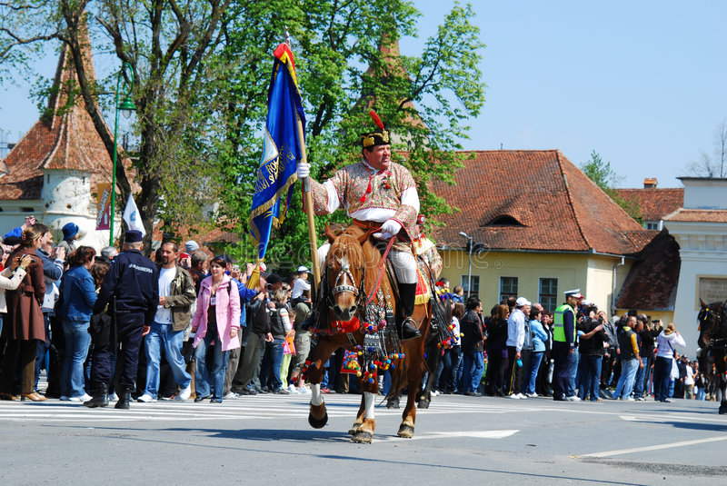 Juni Parade (Brasov/Romania) royalty free stock photo