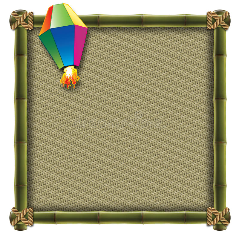 Juni-Party-Elemente stock abbildung