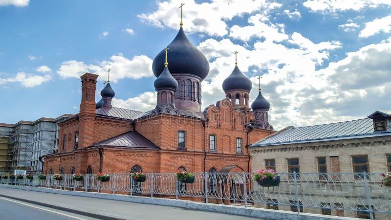 Juni 2018, Russische Federatie, Tatarstan, Kazan Museum van oude gelovigen in de interventiekathedraal van Russische Orthodoxe Ch stock afbeelding