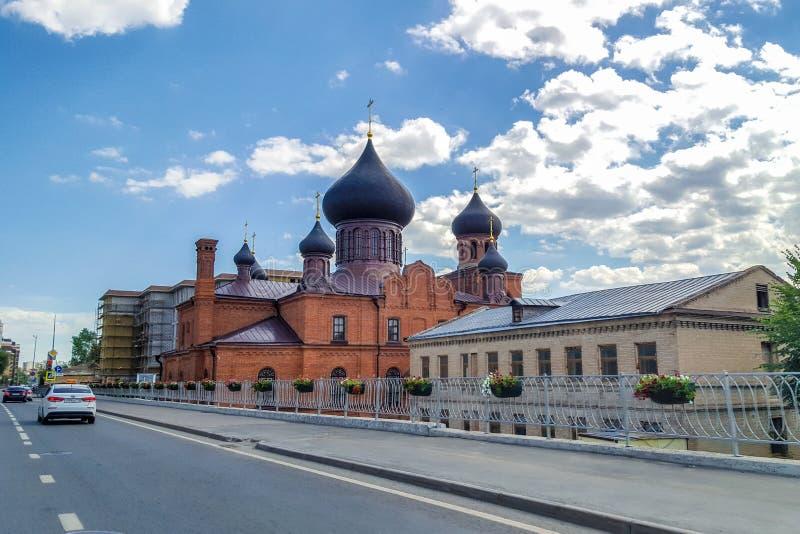 Juni 2018, rysk federation, Tatarstan, Kazan Museum av gamla troenden i interventiondomkyrkan av ryska ortodoxa Chu royaltyfria bilder