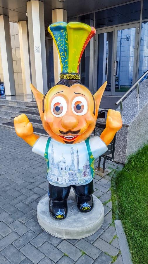 Juni 2019, Ryska federationen, Tatarstan, Kazan Lönsamma varelser nära hotellet 'Riviera' - ett populärt hotell i Kazan arkivfoton