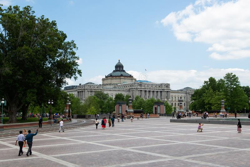2 juni, 2018 - Singapore, Singapore: Bibliotheek van Congres, Washington DC, Verenigde Staten royalty-vrije stock fotografie