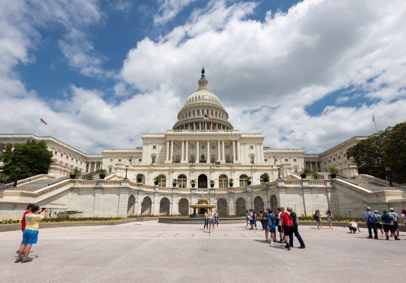2 juni, 2018 - Singapore, Singapore: De het Capitoolbouw van Verenigde Staten, Washington DC, Verenigde Staten royalty-vrije stock afbeelding