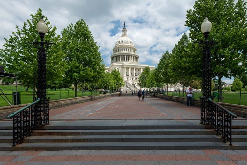 2 juni, 2018 - Singapore, Singapore: De het Capitoolbouw van Verenigde Staten, Washington DC, Verenigde Staten royalty-vrije stock afbeeldingen