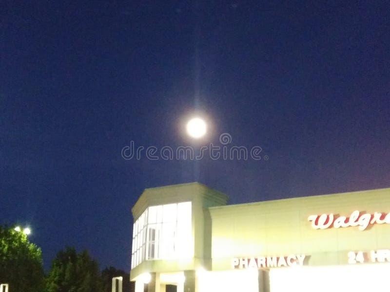 Juni-Volle maan stock fotografie