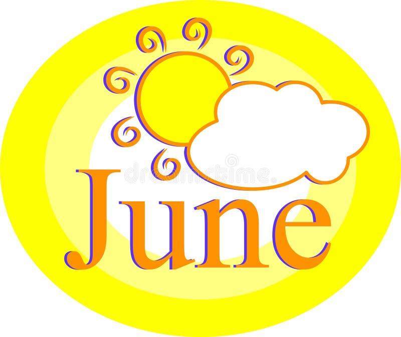 Junio stock de ilustración