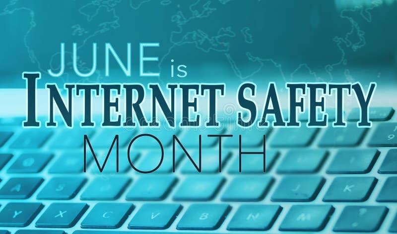 Junio es mes nacional de la seguridad de Internet fotografía de archivo libre de regalías
