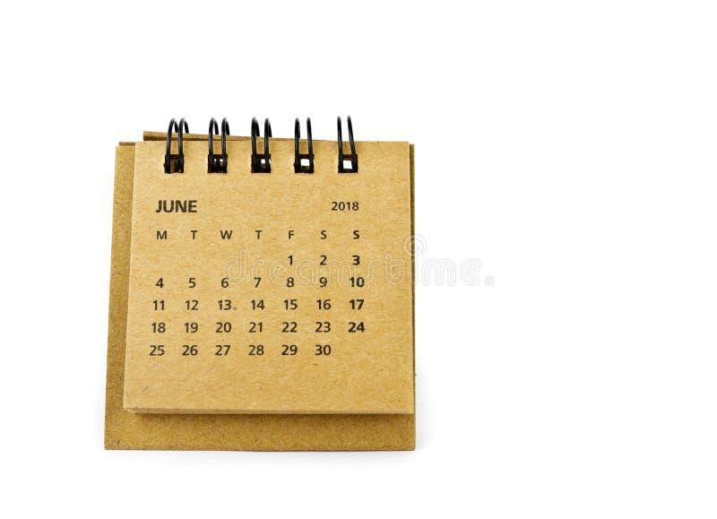 junio Hoja del calendario en blanco fotografía de archivo libre de regalías